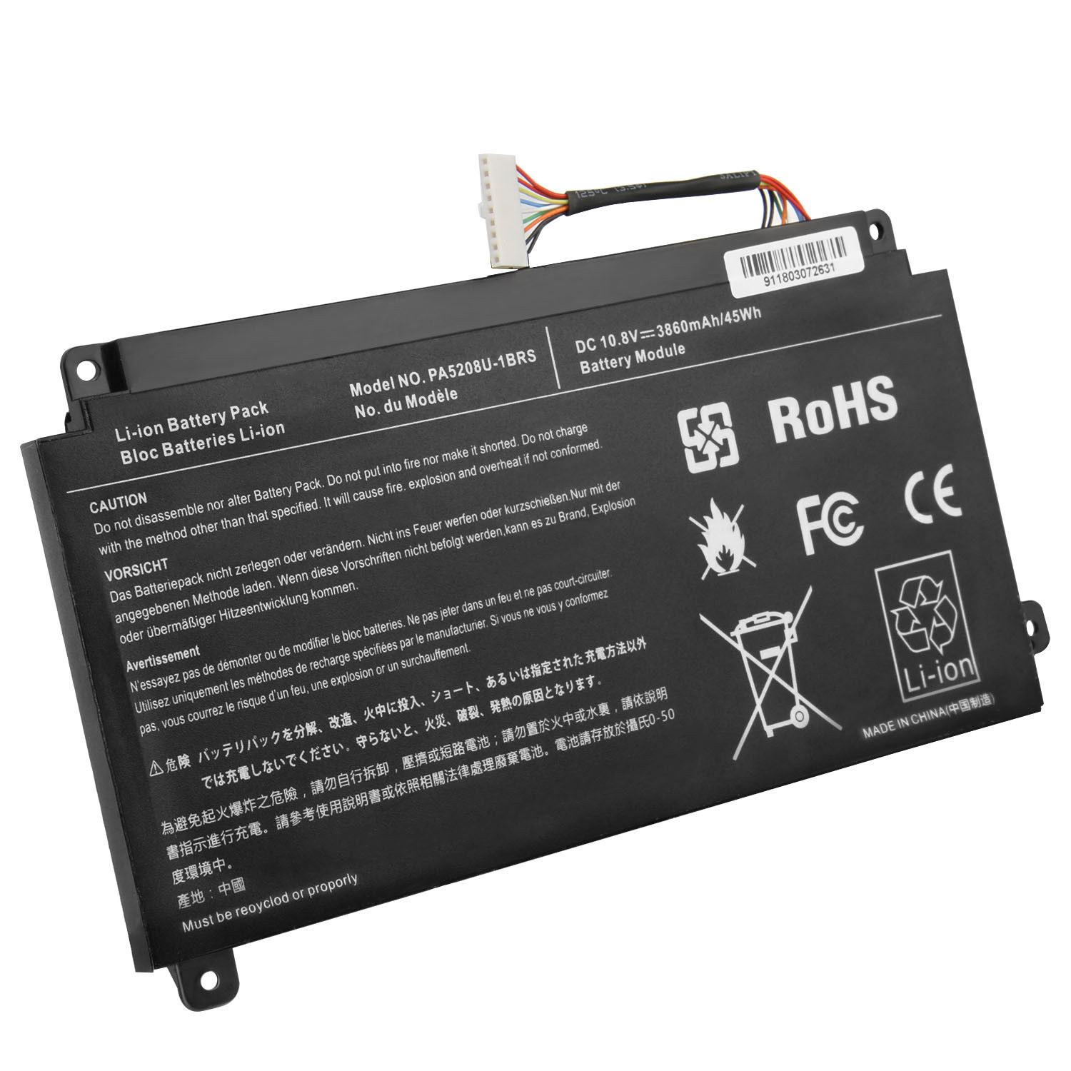 Toshiba Satellite L55W-C5258 P55WB PA5208U-1BRS compatible battery