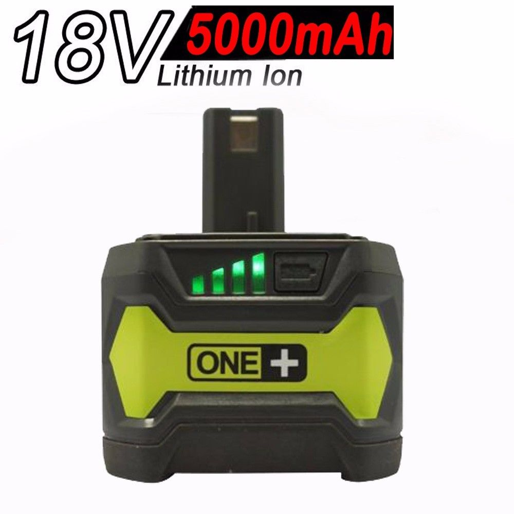18V 5.0AH Li-ion Battery for RYOBI One Plus RB18L25 RB18L50 P108 P107 P104 P780